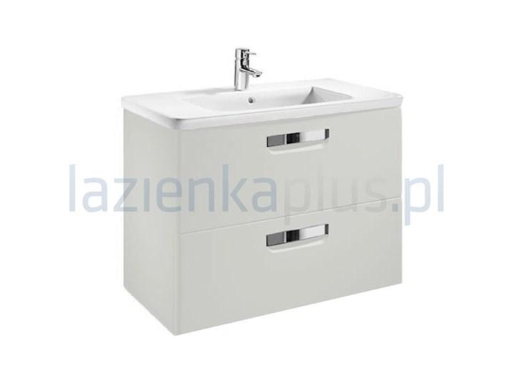Szary dąb, zestaw łazienkowy umywalka + szafki 120 cm FACKELMANN