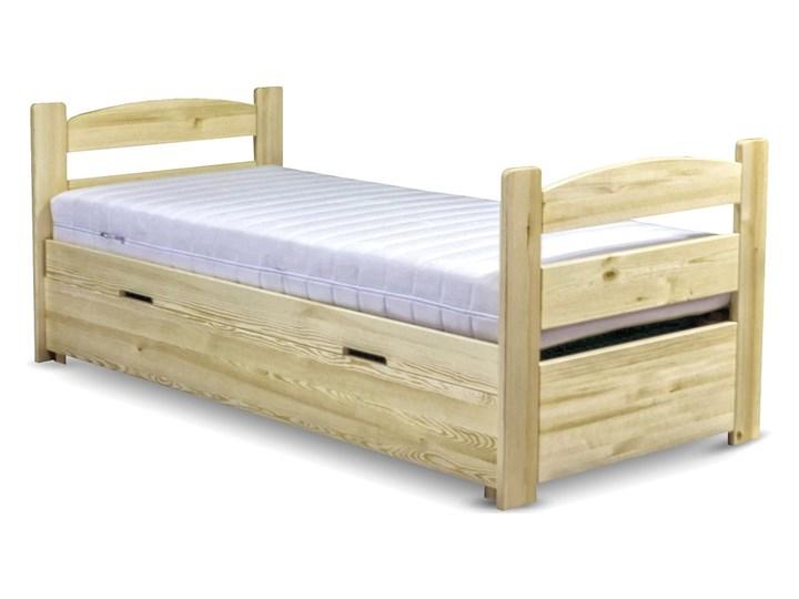 Łóżko Maja z pojemnikiem 90x200 Rozmiar materaca 90x200 cm Drewno Tradycyjne Kolor Beżowy