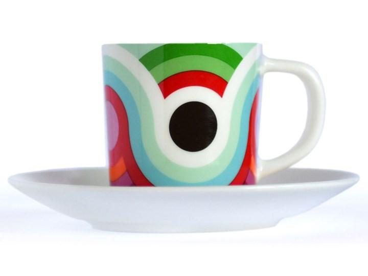 Kolorowa filiżanka do espresso ze spodeczkiem, filiżanki porcelanowe, filiżanki do kawy na prezent, nowoczesne filiżanki do kawy Filiżanka do kawy Filiżanka ze spodkiem Porcelana
