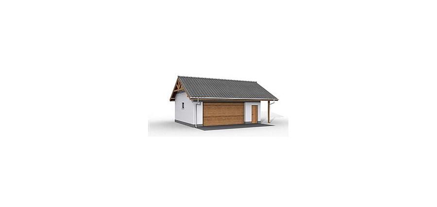 G22 Szkielet Drewniany Garaz Dwustanowiskowy Projekty Garazy I