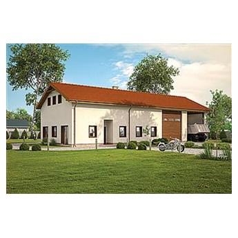Murator GMC57a Budynek garażowo-magazynowy z częścią mieszkalną, pomocniczą i antresolą gospodarczą