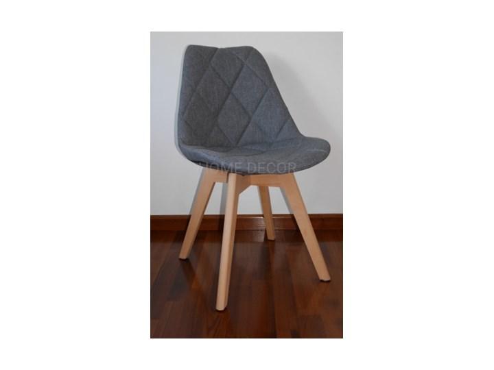 W Mega Krzesło KARO KRIS LUGANO tapicerowane pikowane SZARE do jadalni NV37