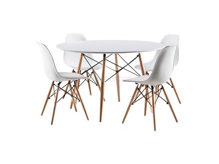 ZESTAW PARIS STÓŁ OKRĄGŁY 100 CM + 4 KRZESŁA BUK DSW DSR Kategoria Stoły z krzesłami