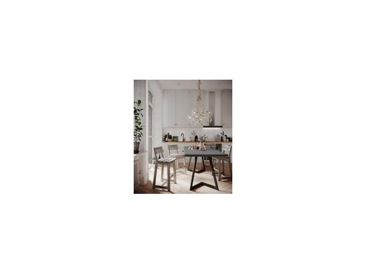 Stół OSLO II na wymiar beton CIRE lite konstrukcja czarna Długość 140 cm  Wysokość 76 cm Metal Pomieszczenie Stoły do jadalni