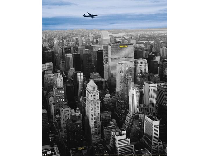 Nowy Jork Samolot Nad Miastem Plakat