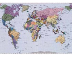 World Map - fototapeta