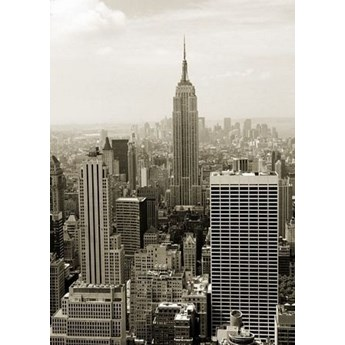 Nowy Jork. Manhattan panorama w sepii - fototapeta