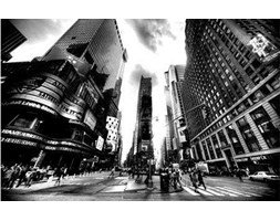 Times Square BW (New York) - fototapeta