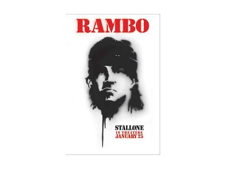 Rambo Sylwester Stallone Plakat