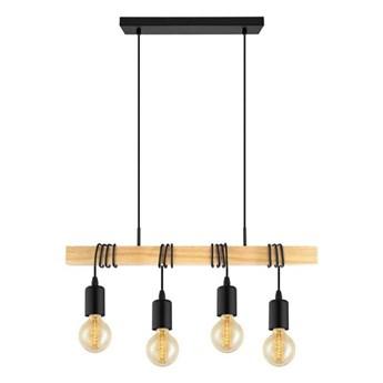 TOWNSHEND-Lampa wisząca 4-punktowa Listwa Drewno Dł.70cm