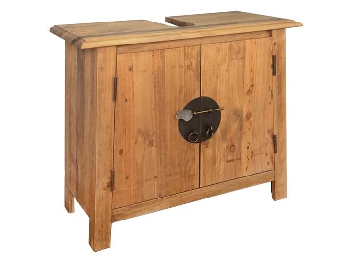 vidaXL Szafka łazienkowa pod umywalkę, drewno sosnowe, 70x32x63 cm Stojące Szerokość 70 cm Głębokość 32 cm Szafki Kategoria Szafki stojące