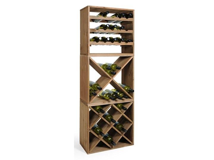 Niesamowite Stojak na wino z drewna sosnowego, stojak na butelki, stojak na KX06