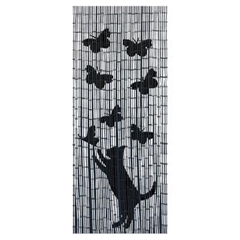 Zasłona bambusowa Kot i motyle, 90x200 cm, WENKO