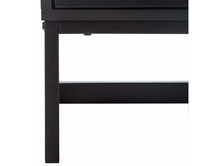 Szafka nocna z półką i szufladką, styl loftowy, czarna, Atmosphera Drewno Płyta MDF Uniwersalne Płyta laminowana Ilość szuflad 1-szuflada