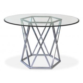 Stół Corner II  Ø - 100 cm czarny mat szkło transparentne