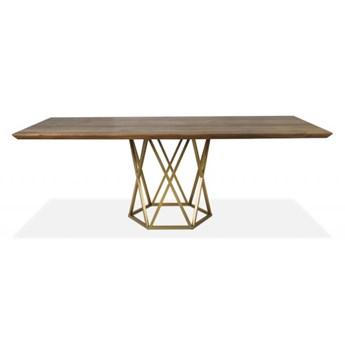 Stół Corner  160 x 90 cm złoty mdf lakierowany - krawędź ścięta