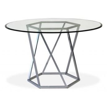 Stół Diago II Ø - 100 cm czarny mat szkło transparentne