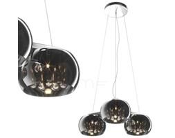 Dekoracyjna LAMPA wisząca CRYSTAL P0076-03R-F4FZ Zumaline szklana OPRAWA moonlight lustrzana łezki sople glamour chrom