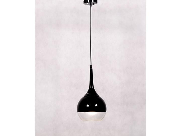 NOWOCZESNA LAMPA WISZĄCA CZARNA FRUDO Metal Lampa z kloszem Szkło Kolor Czarny