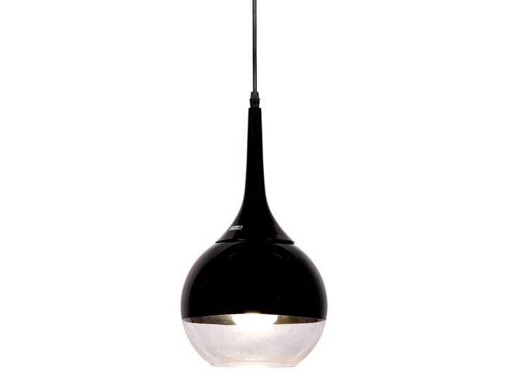 NOWOCZESNA LAMPA WISZĄCA CZARNA FRUDO Lampa z kloszem Metal Szkło Styl Nowoczesny