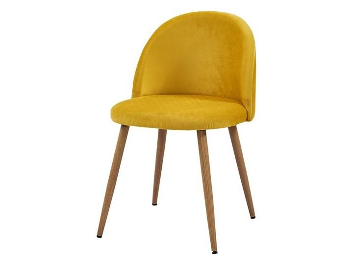 krzesło SONG plaster miodu/ żółty/ noga dąb Bettso Głębokość 43 cm Tkanina Metal Wysokość 78 cm Drewno