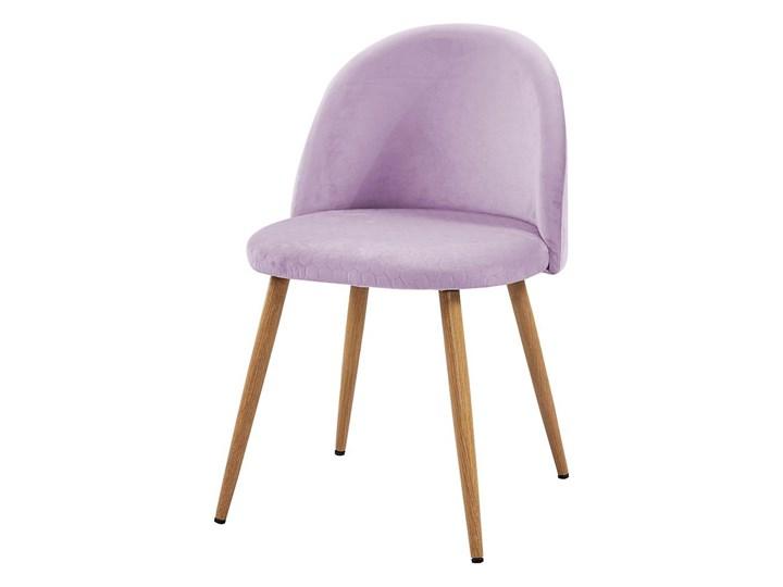krzesło SONG plaster miodu/ różowy/ noga dąb Bettso Metal Tkanina Wysokość 78 cm Głębokość 43 cm Drewno
