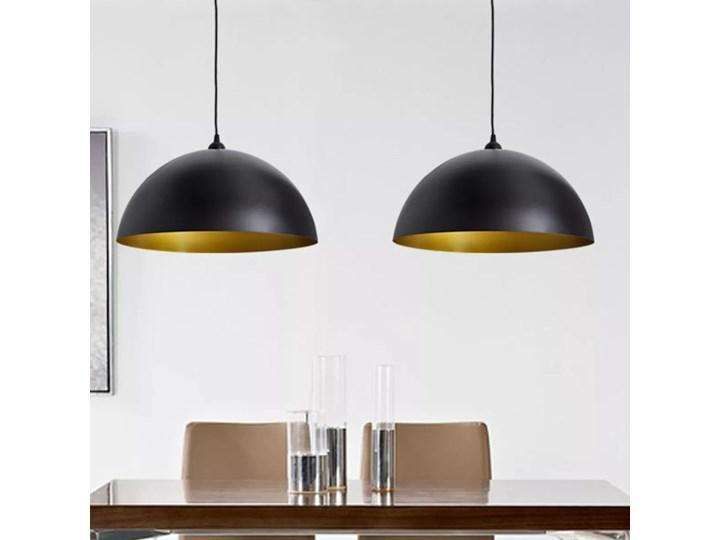 vidaXL Półokrągłe lampy sufitowe, 2 szt., regulowana długość, czarne Styl klasyczny Metal Metal Metal Metal Styl klasyczny