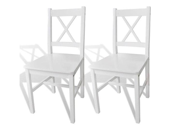 vidaXL Krzesła stołowe, 2 szt., białe, drewno sosnowe