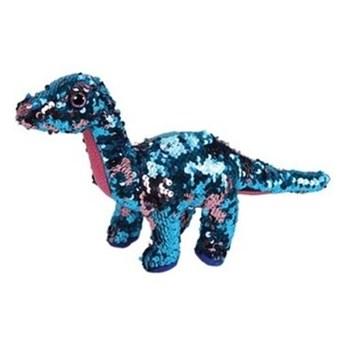 Maskotka TY INC Beanie Boos Flippables Tremor - niebieski różowy dinozaur z cekinami 15 cm