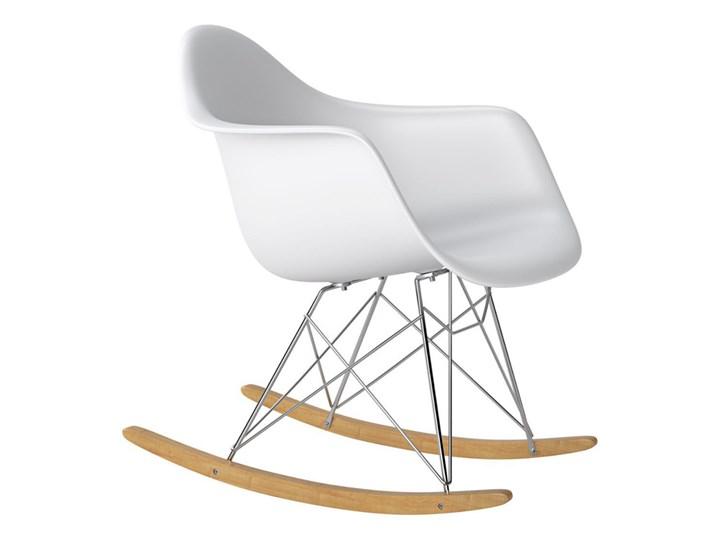 Nowoczesne krzesło bujane ETEO RAR white