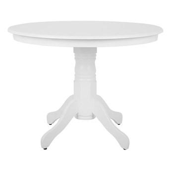 Stół do jadalni biały okrągły 100 cm dla 4 osób styl vintage