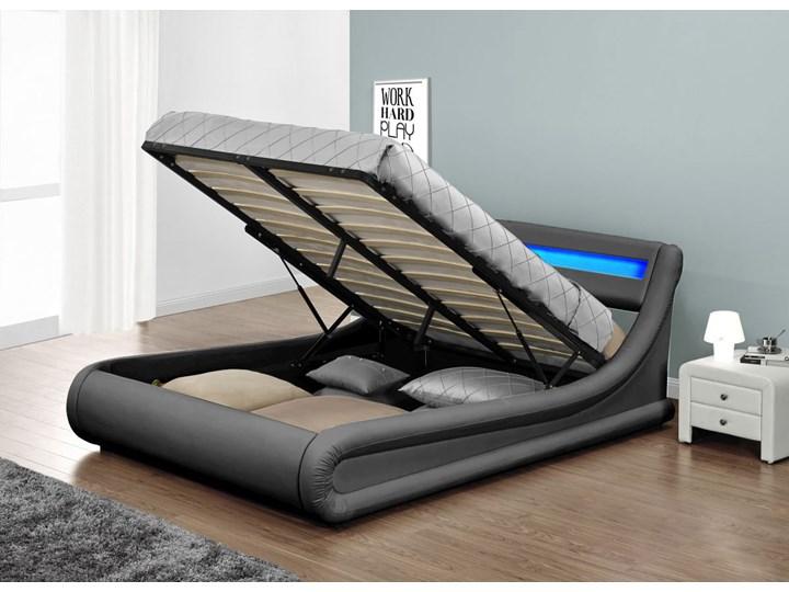 łóżko 120x200 Tapicerowane Do Sypialni 138 Led Popiel