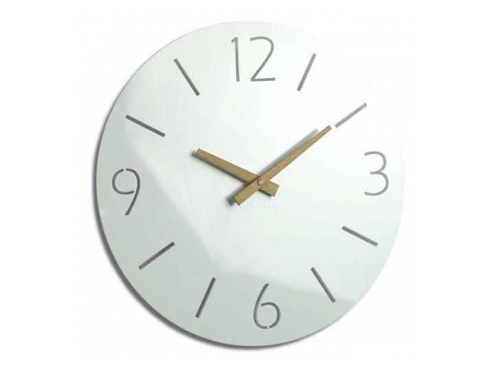 Duży zegar ścienny SLIM wood