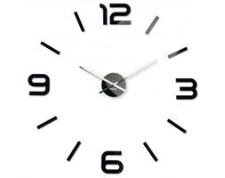 Duży zegar ścienny DIY Admirable 80cm czarny