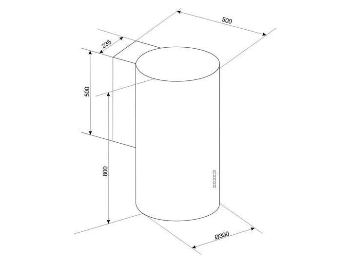 Okap BERG Floyd Day Biały Szerokość 39 cm Okap przyścienny Okap kominowy Sterowanie Elektroniczne