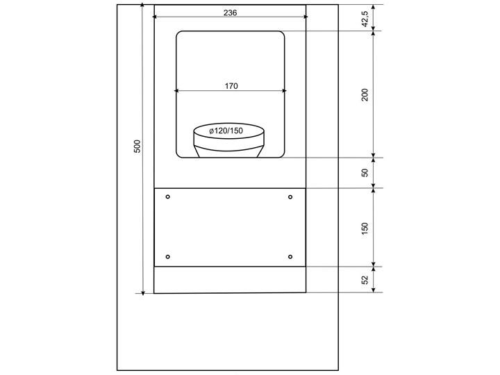 Okap BERG Floyd Day Biały Okap kominowy Szerokość 39 cm Okap przyścienny Sterowanie Elektroniczne