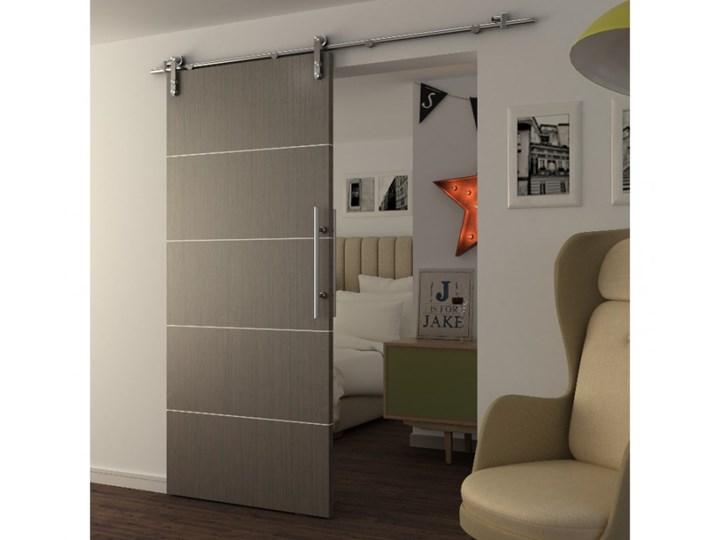 Inteligentny Naścienne drzwi przesuwne GAYAC - wys. 205 × szer. 83 cm - Płyta WU08