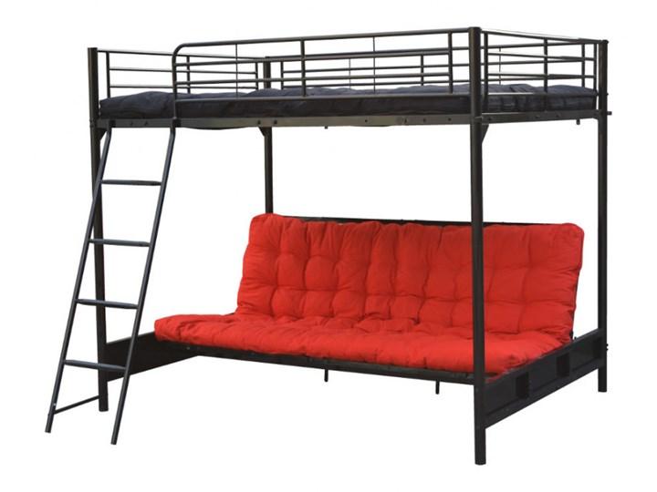 łóżko Antresola Z Rozkładaną Kanapą Genius 140 190 Cm Kolor Czarny