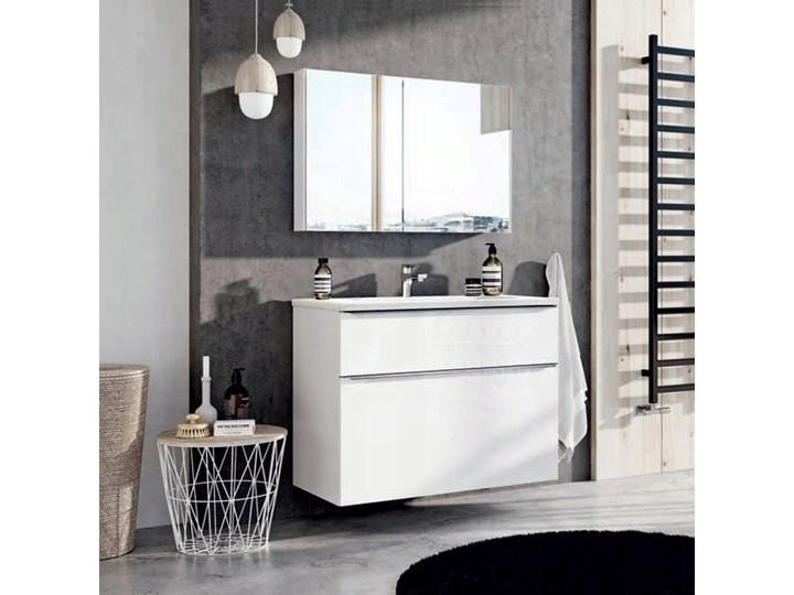 Szafka łazienkowa Biała Z Umywalką Szklaną 70 Cm Lofty White
