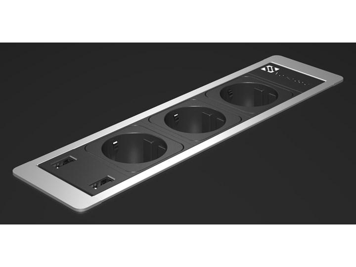 Mediaport ASA VersaFrame2.0 4x 230V + 2x pusty moduł -aluminium