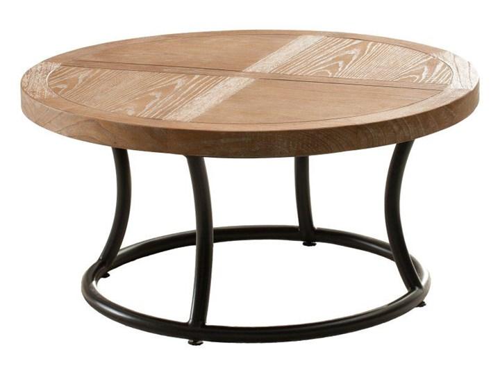 Stolik okrągły Kendari natural 90cm, 90 × 46 cm Styl Nowoczesny Metal Drewno Kształt blatu Okrągłe