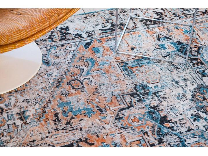 Dywan Nowoczesny Pomarańczowo Niebieski - SERAY ORANGE 8705 Dywany Prostokątny Bawełna Kategoria Dywany
