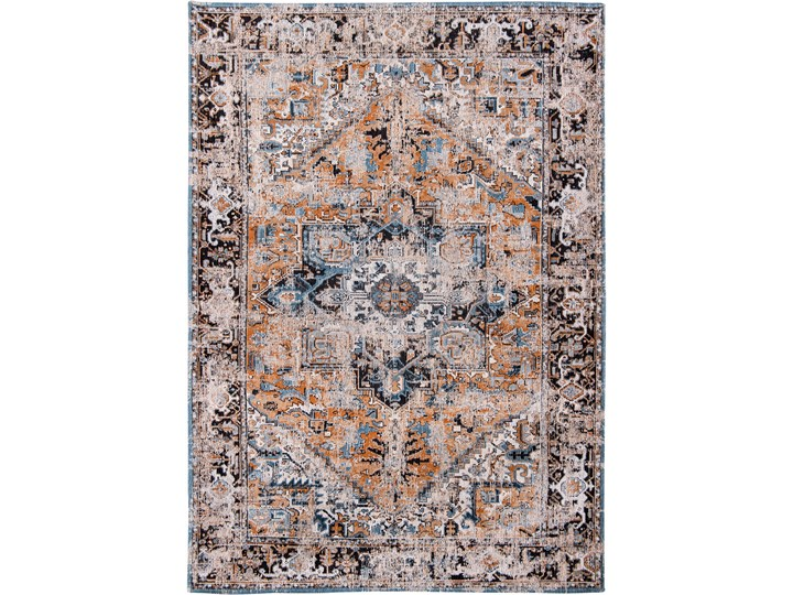 Dywan Nowoczesny Pomarańczowo Niebieski - SERAY ORANGE 8705 Prostokątny Dywany Bawełna Kategoria Dywany Pomieszczenie Salon