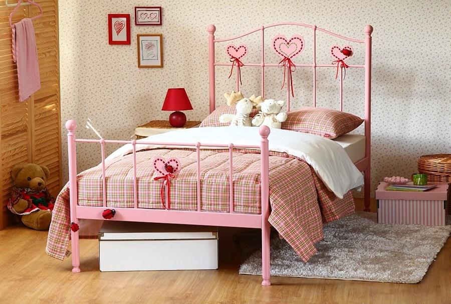 łóżko Metalowe Dla Dziewczynki Sweety 2 Dwa Szczyty