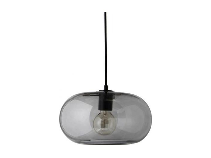 Lampa wisząca Kobe transparentna przydymiona z czarnym gwintem