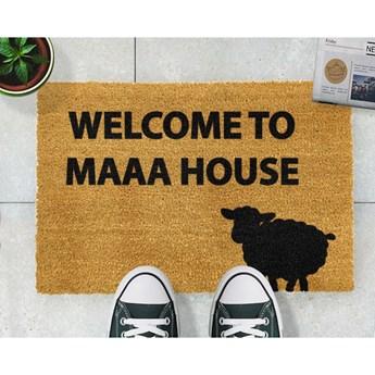 Wycieraczka z naturalnego kokosowego włókna Artsy Doormats Welcome to Maaa House, 40x60 cm