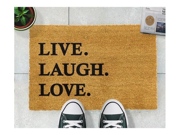 Wycieraczka z naturalnego kokosowego włókna Artsy Doormats Live Laugh Love, 40x60 cm Włókno kokosowe Kategoria Wycieraczki