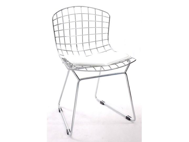 Krzesło dziecięce Harry Junior biała poduszka Siedzisko Stal Krzesło do karmienia