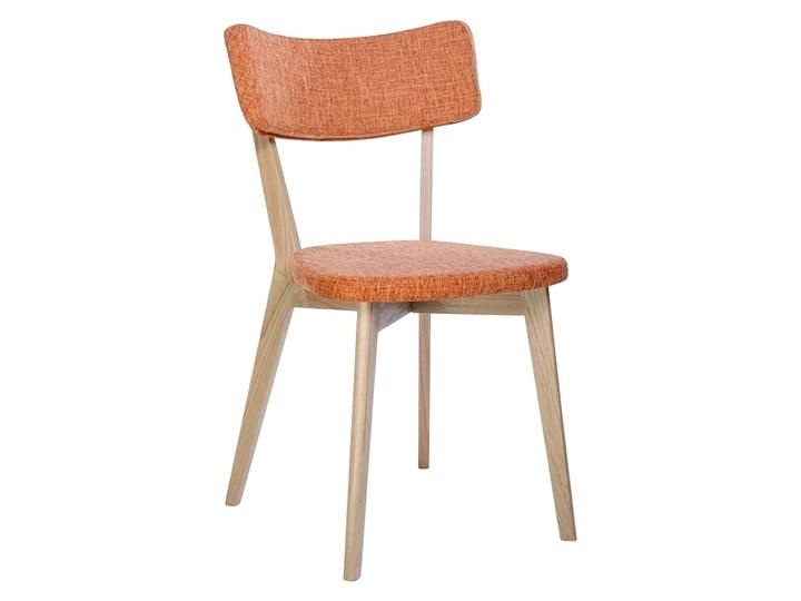 Krzesło SCANDI pomarańczowe - podstawa dębowa Głębokość 48 cm Szerokość 54 cm Tkanina Drewno