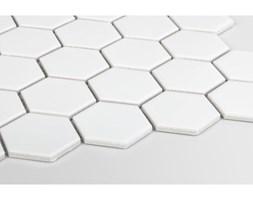 Heksagon duży, biały, matowy